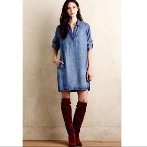 Anthropologie Cloth&Stone chambray t-shirt dress